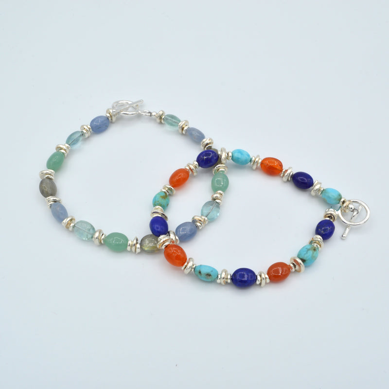 Oval Beaded Gemstone Bracelet
