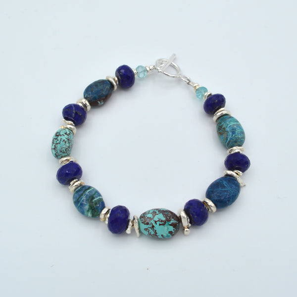 Large Oval Beaded Gemstone Bracelet Workshop (Tuesday, July 23rd)