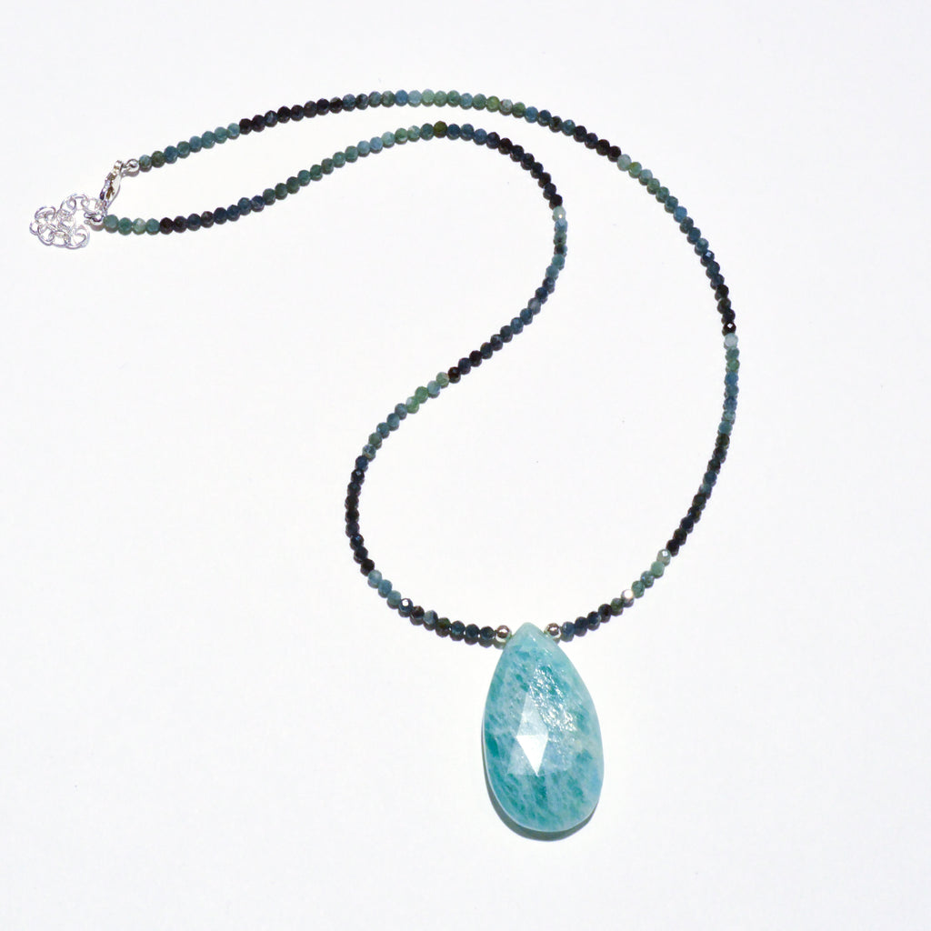 Beaded Gemstone Necklace with Large Amazonite Pendant Workshop (Wednesday, June 26th)