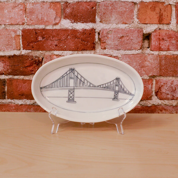 Thousand Islands Bridge Oval Platter (Medium)