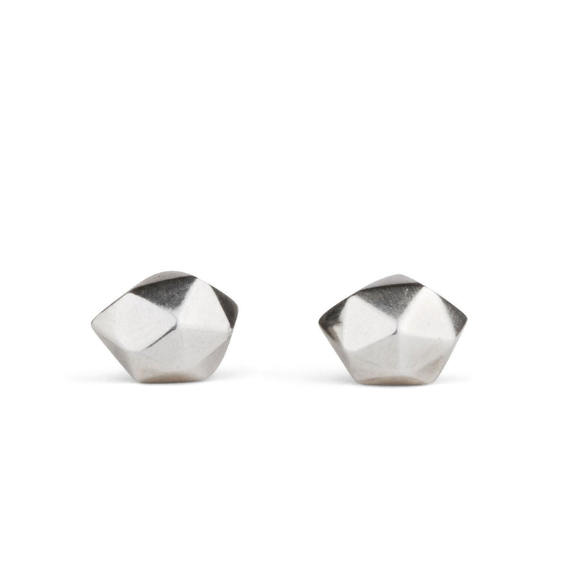 Tiny Fragment Stud Earrings in Sterling Silver