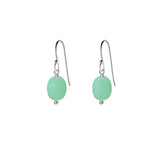Single Drop Gemstone Earrings (Oval Shape)