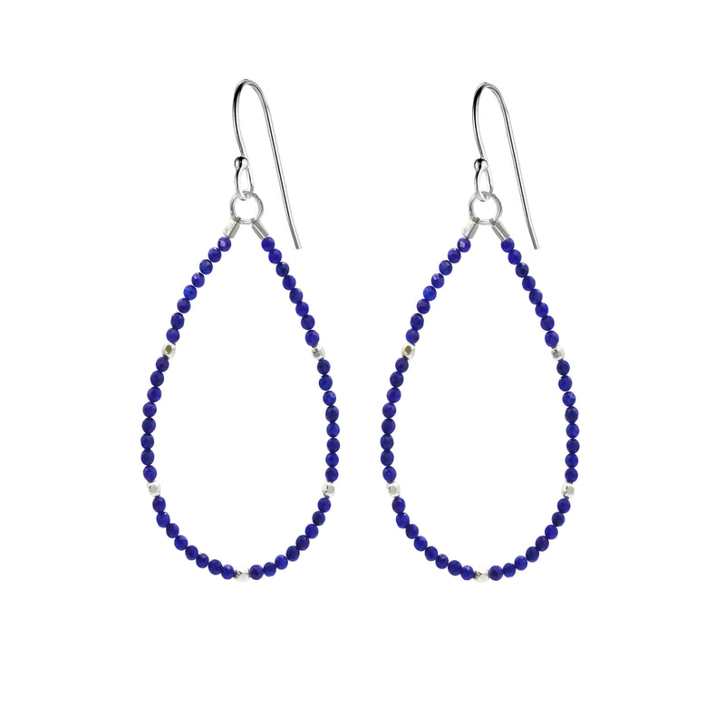 Beaded Gemstone Teardrop Earrings