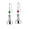 Classic Channel Marker Port & Starboard Earrings in Sterling Silver