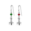 Small Channel Marker Port & Starboard Earrings in Sterling Silver