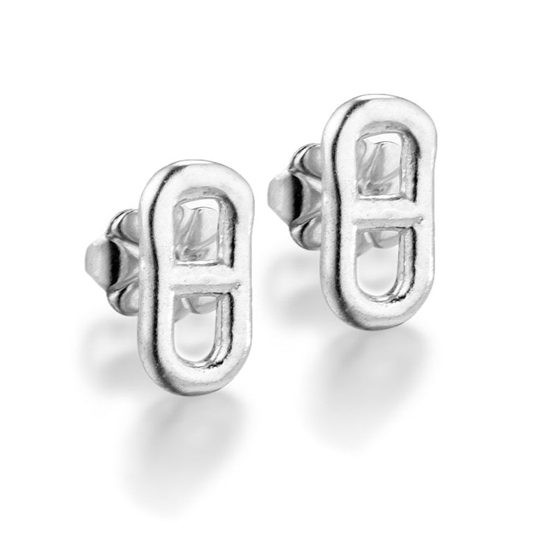 Anchor Chain Stud Earrings