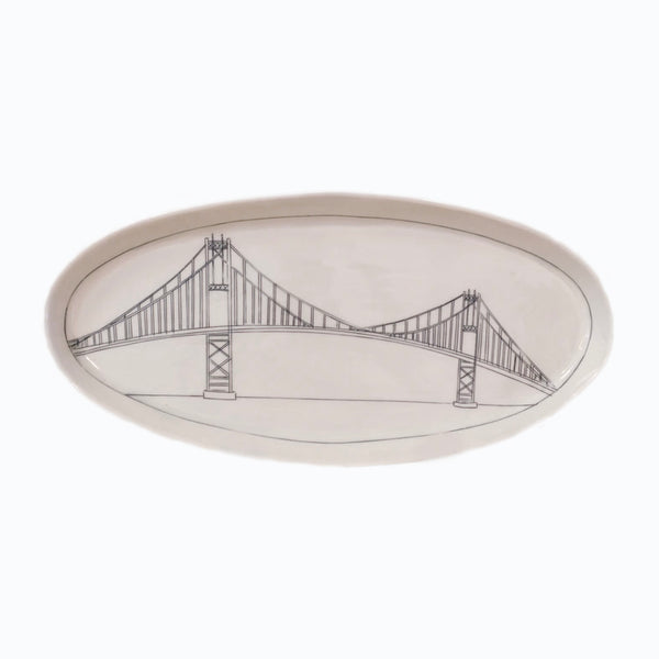 Thousand Islands Bridge Oval Platter (Extra Large)