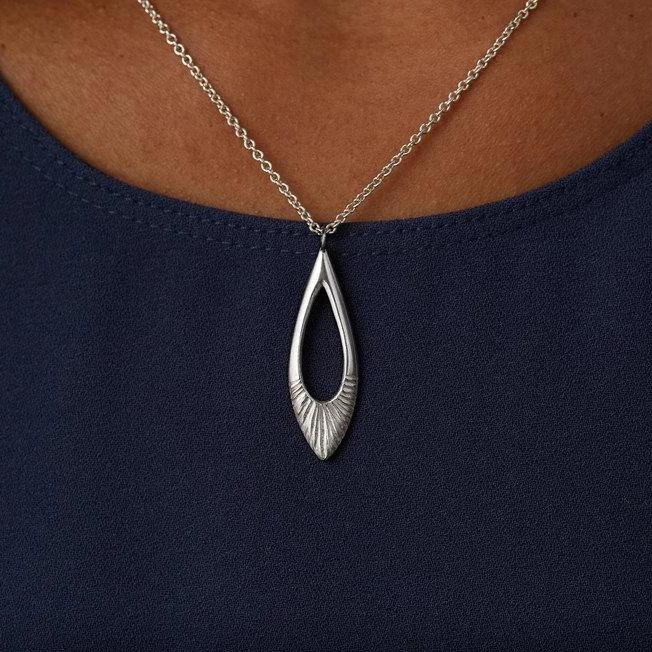 Flux Necklace in Sterling Silver