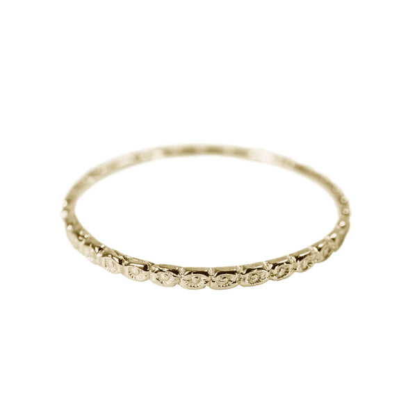 Tiny Circles Stack Ring in 14K Yellow Gold