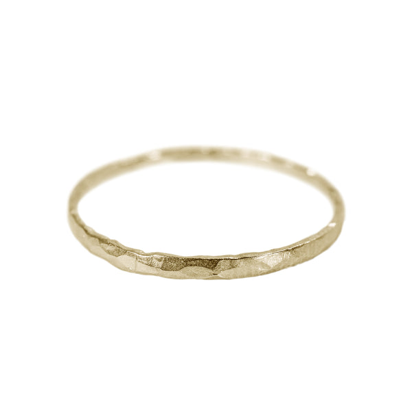 Hammered Stack Ring in 14K Yellow Gold
