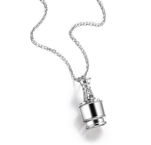 Winter Channel Marker Necklace in Sterling Silver on Heavy Chain