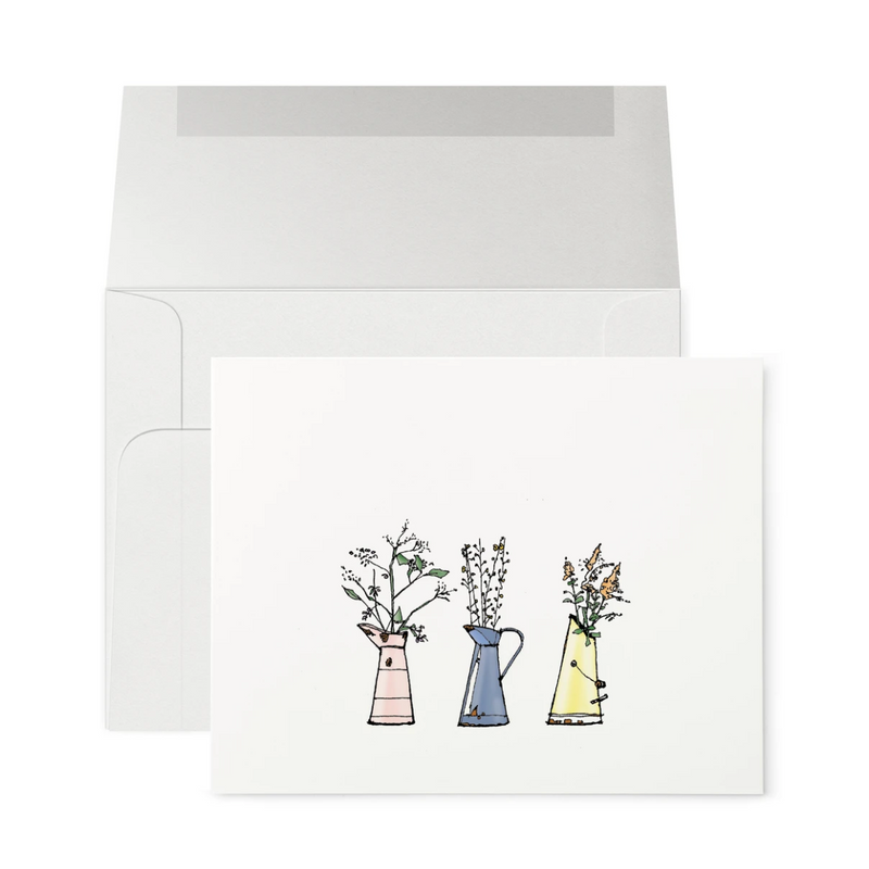 Greeting Card (Three Vases)
