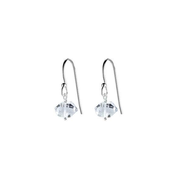Single Drop Earrings (Herkimer Diamond)