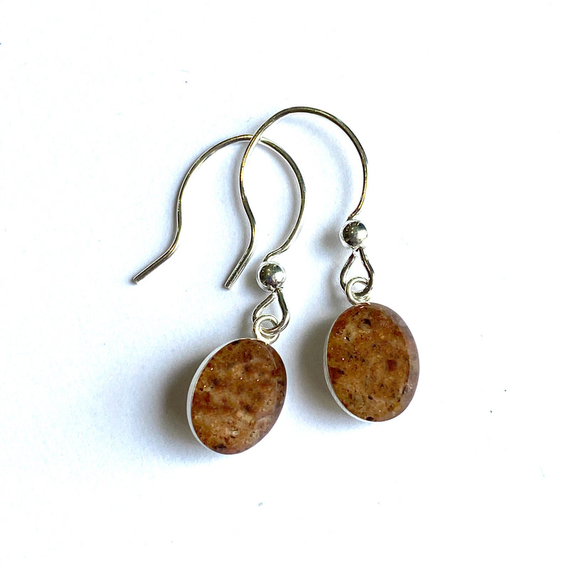 Grindstone Granite Drop Earrings