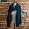 Silk/Cashmere Scarf (Jen Blue/Blueberry)