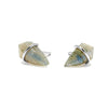 Teeny Gemstone Kite Stud Earrings in Sterling Silver