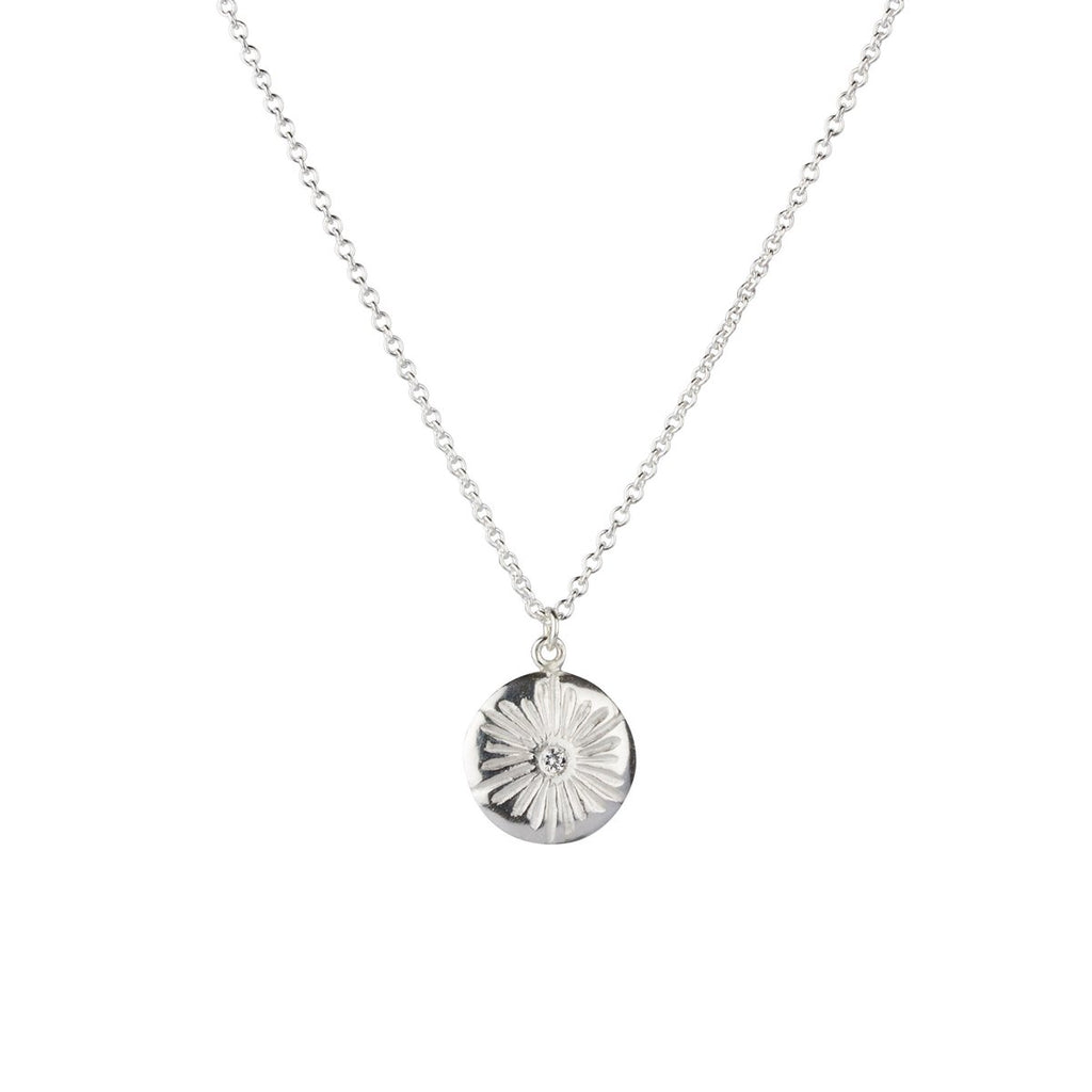 Large Corona Diamond Necklace in Sterling Silver
