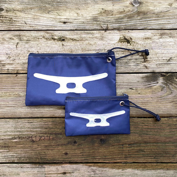 Large Cleat Wristlet (Navy & White)