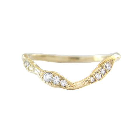 Lava Ribbon Ring in 14K Yellow Gold