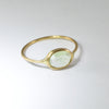 Light Green Tourmaline Ring in Solid 18K Gold