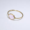 Pink Tourmaline Ring in Solid 18K Gold