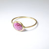 Dark Pink Tourmaline Ring in Solid 18K Gold