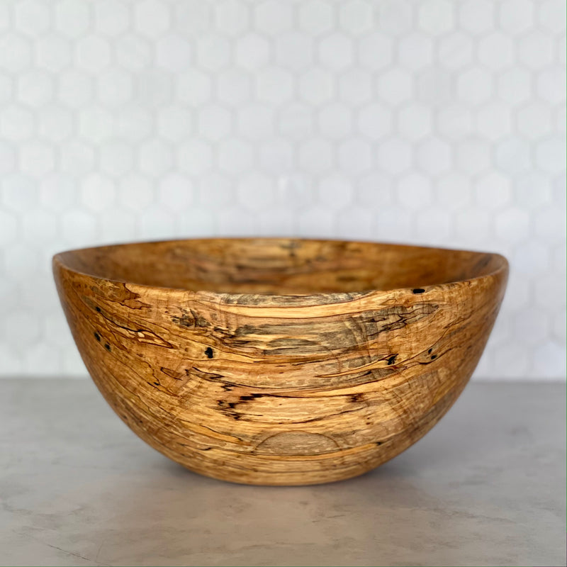 Wooden Bowl #357 (Large Spalted Maple)