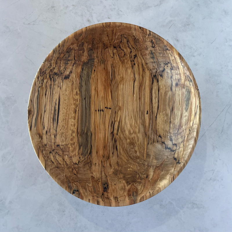 Wooden Bowl #358 (Medium Spalted Maple)