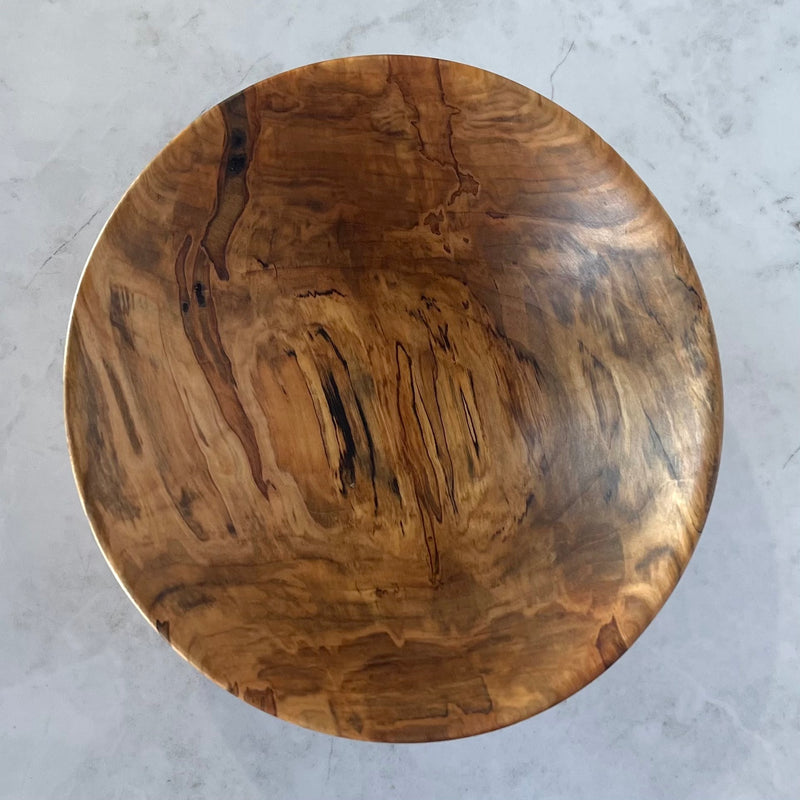 Wooden Bowl #361 (Medium Spalted Maple)