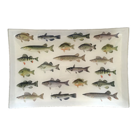Medium Découpage Tray (Denton Fish)