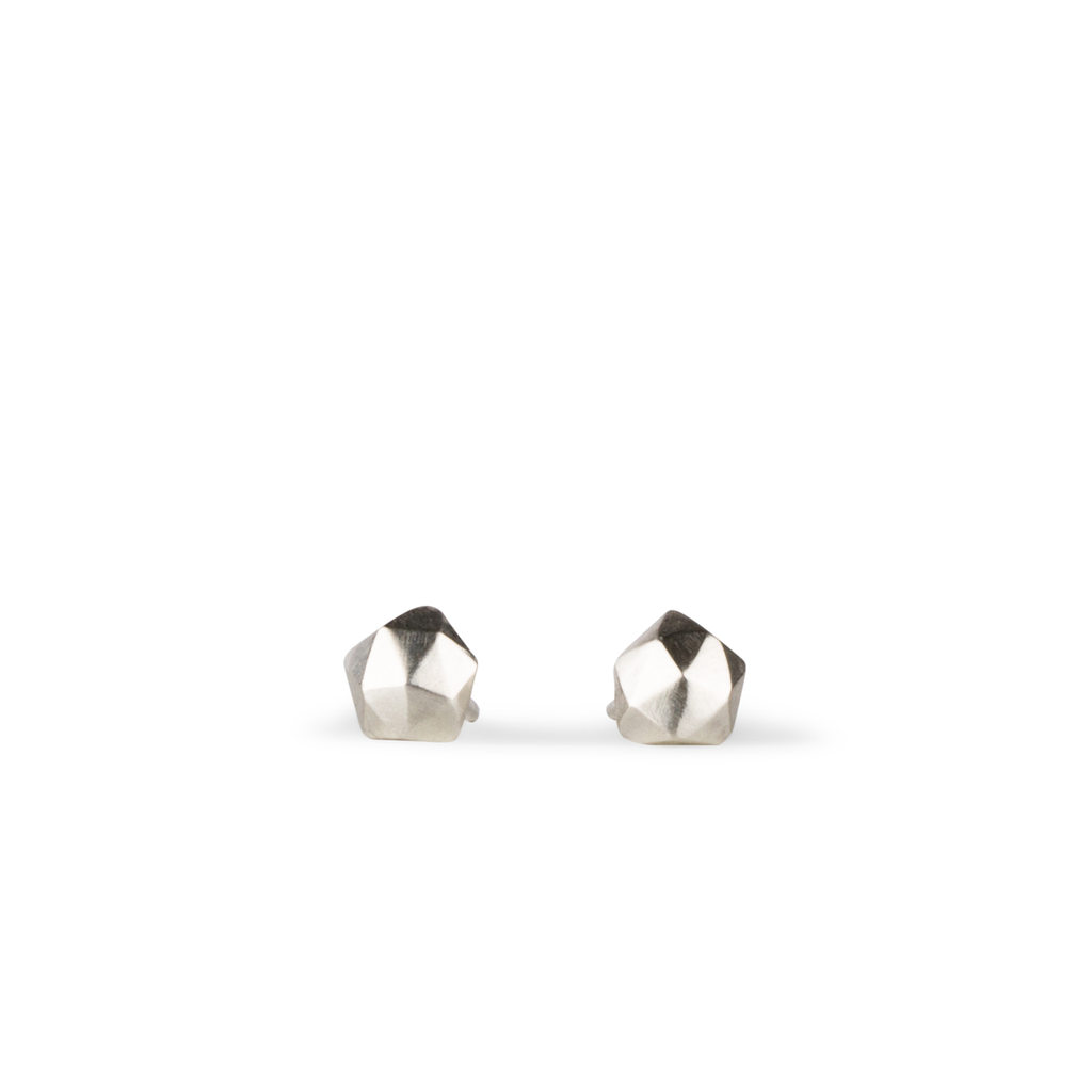 Micro Fragment Stud Earrings in Sterling Silver