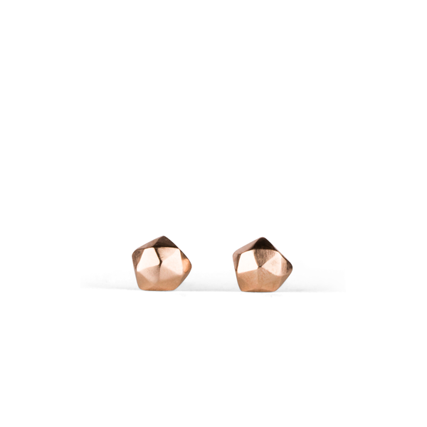Micro Fragment Stud Earrings in 14K Rose Gold