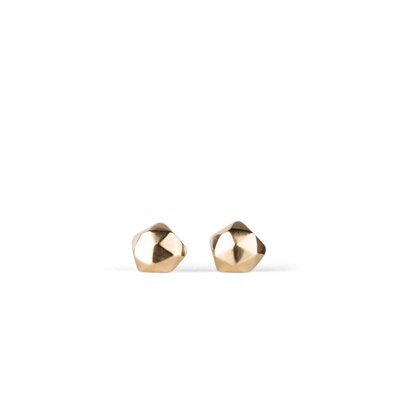 Micro Fragment Stud Earrings in 14K Yellow Gold