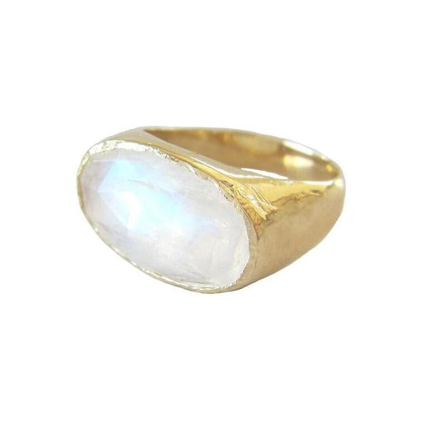 Moonbeam Ring in 14K Yellow Gold