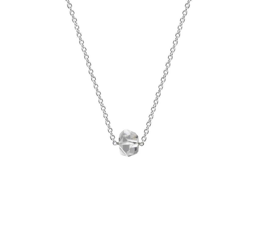 Single Drop Necklace Herkimer Diamond The Golden Cleat