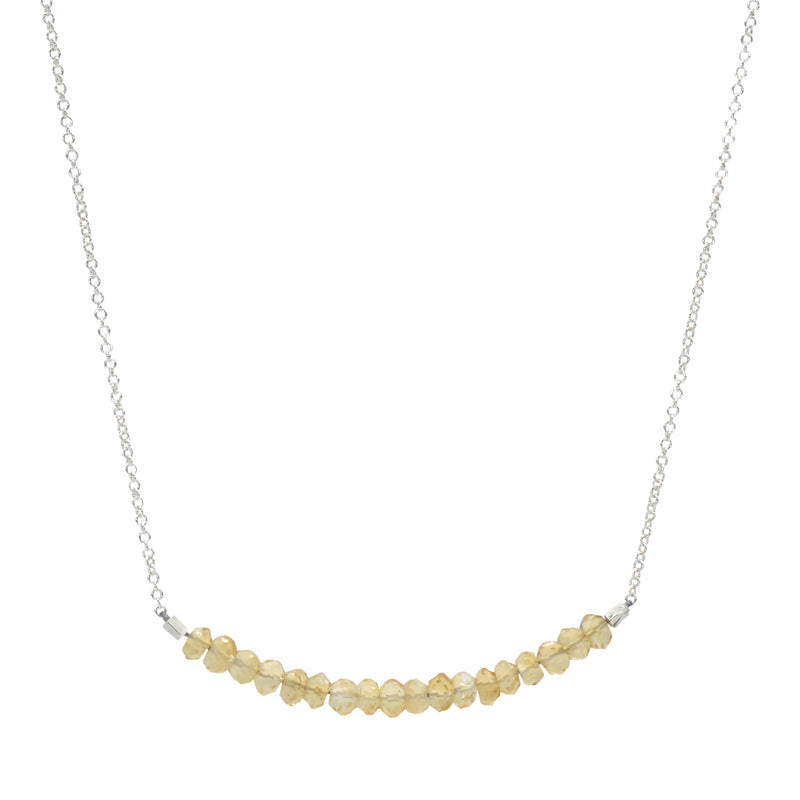 Classic Gemstone Bar Necklace