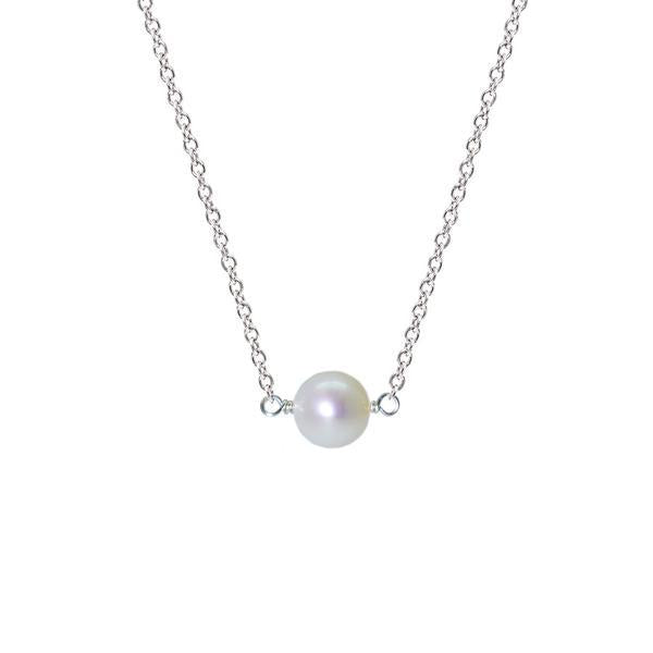 Single Drop Necklace (Pearl)