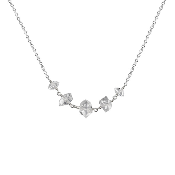 Herkimer Diamond Multistone Necklace