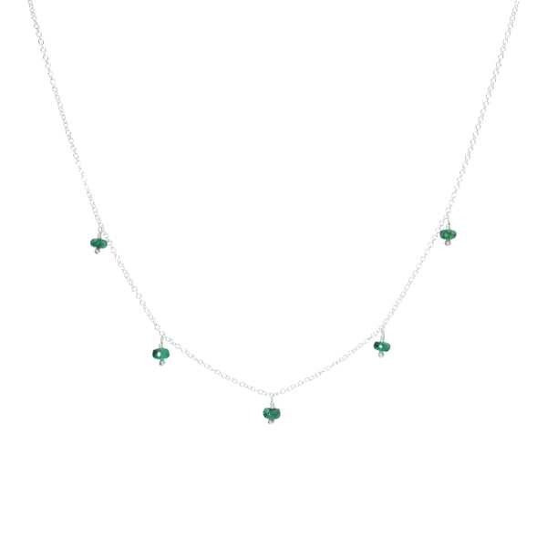 Rondelle Gemstone Multidrop Necklace