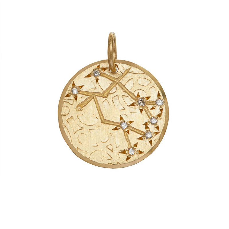 Gemini Constellation with Diamonds in 10K Gold