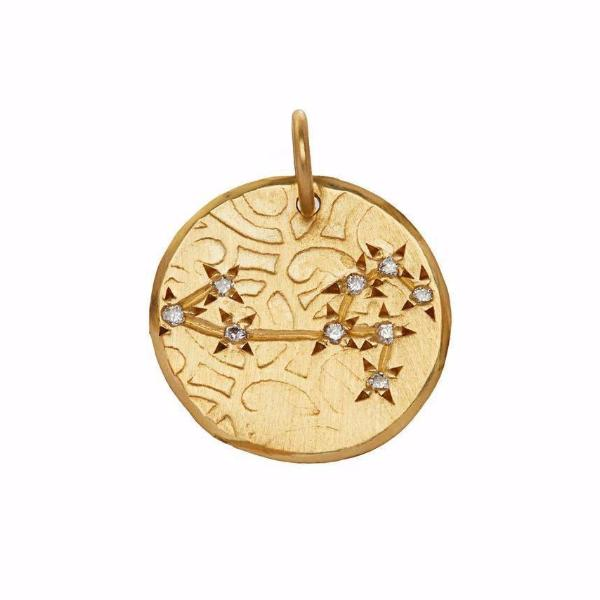 Leo Constellation with Diamonds in 10K Gold