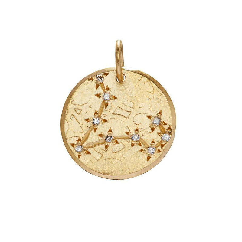 Pisces Constellation with Diamonds in 10K Gold