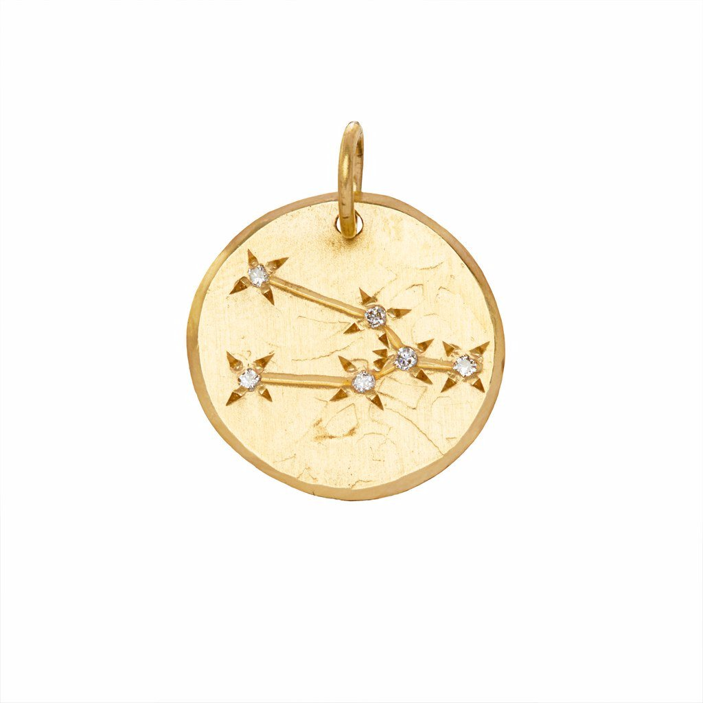 Taurus Constellation with Diamonds in 10K Gold