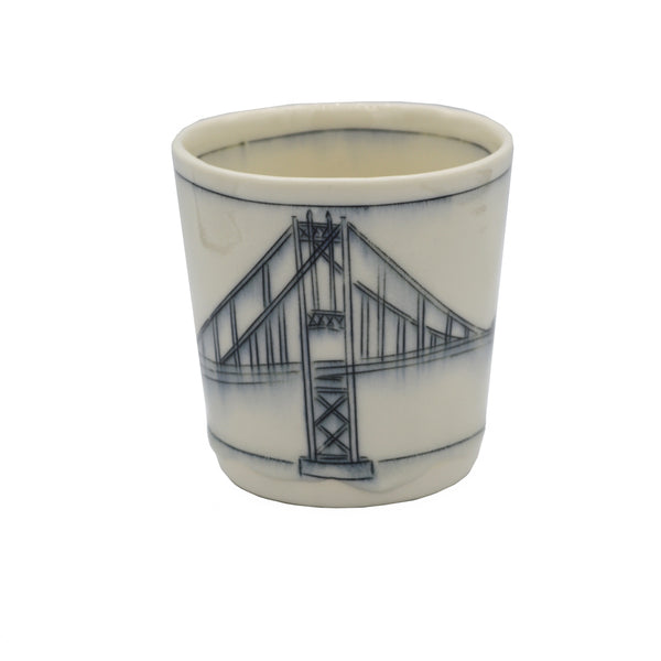 Nicole Aquillano Ceramics Thousand Islands Bridge Whiskey Cup