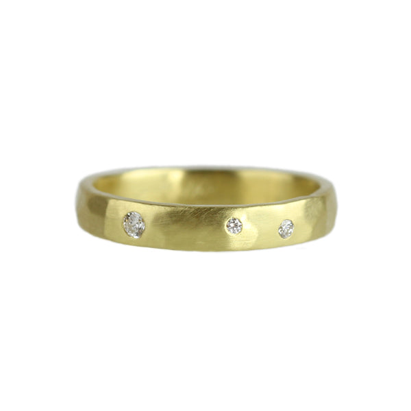 Orion Ring with Diamonds in 14K Yellow Gold