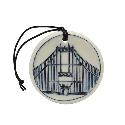 Thousand Islands Bridge Ornament (Circle View)