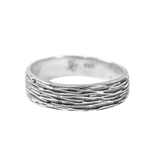 Classic Ripple Ring (Oxidized)
