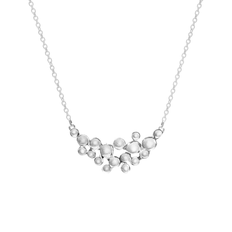 Crescent Champagne Pendant Necklace in Sterling Silver