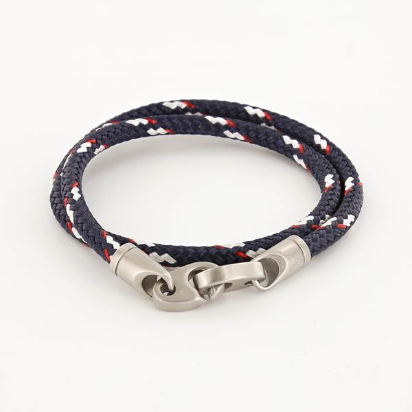Contender Double Rope Bracelet (Navy/Red/White)