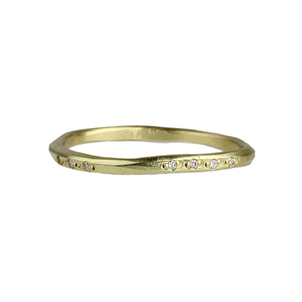 Pave Scatter Ring with Diamonds in 14K Yellow Gold